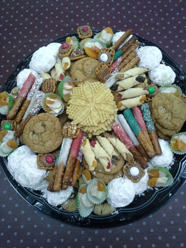 2015 Christmas cookies large tray
